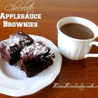 CHOCOLATE APPLESAUCE BROWNIES