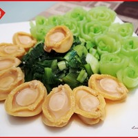 Baby Abalone with Bok Choy + Vegetable Flowers Tips!