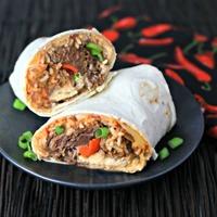Cheesy Beef Burrito