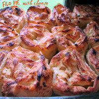 Savory filo pie with cheese