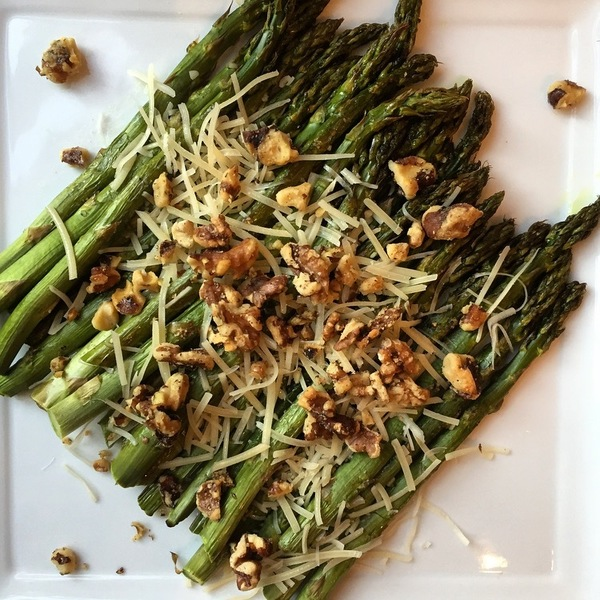 Asparagus with Parmesan and Roasted Walnuts Recipe by Leslie ...