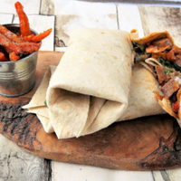 Spicy Lamb Wraps with Carrot Fries