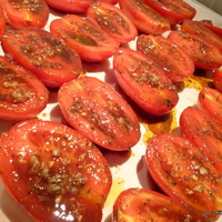 ROASTED garlic Balsamic TOMATOES