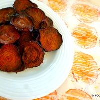 baked BEET chips with variations