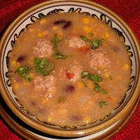 Tex-Mex Meatball Soup