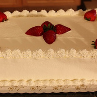 White Chocolate Mousse And Strawberry Layer Cake