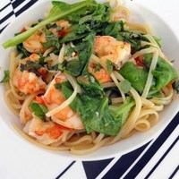 Recipe For Prawn Linguine With Rocket