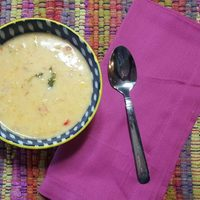 Coconut Corn Chowder with Red Pepper