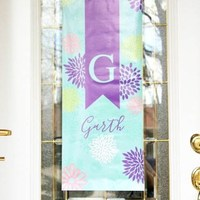 Spring Door Decor with Petite Pain Au Chocolat