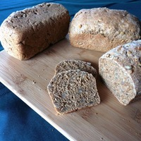 Whole Wheat and Rye Bread with Sunflower Seeds