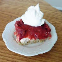 Rhubarb and Strawberry Layered Delight
