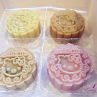 Hello Kitty Snowskin Mooncakes with Chocolate Truffles ( 巧克力冰皮月饼 )