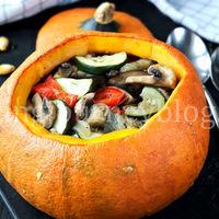Stuffed pumpkin – Baked vegetables
