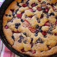 Triple Berry Skillet Cake