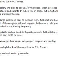 Crock Pot Irish Stew for St. Patrick's Day
