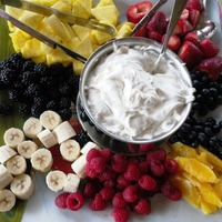 Fresh Fruit with Marshmallow Sauce (A Nut Tree Vintage Recipe)