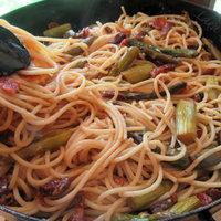 Pancetta and asparagus pasta