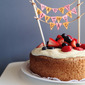 Old Fashioned Sponge Cake with Whipped Mascarpone Cream and Fresh Berries