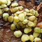 Steak with Red Wine Reduction and Lima Beans