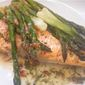 Roast Salmon and Asparagus with Lemon-Dill Butter