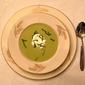 Cream of Basil Pea Soup