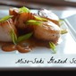 Miso Sake Glazed Scallops