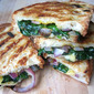 What's for Lunch? Grilled Cheese w/ Spinach & Pickled Onions