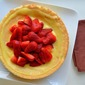 Sponge Cake with Orange Curd and Strawberries