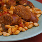 Slow Cooker Italian Sausage and White Beans with Sage (from Ilva and the Silver Spoon)