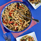 Roasted Vegetable Pasta Salad Recipe with Eggplant, Zucchini & Feta Cheese