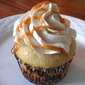 Vanilla Bean Cupcake with Caramel Filling and Caramel Swiss Meringue Buttercream
