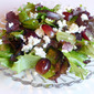 Salad of Mesclun Greens with Grapes and Feta Cheese