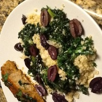 Kale, butter bean and lemon quinoa salad