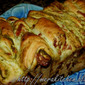 Pull Apart Bread - flavored with long hot peppers and cilantro spread