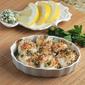 Scallop Gratins with Lemon-Garlic Bread Crumb