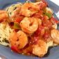 Spicy Shrimp Stir-fry over Angel Hair Pasta
