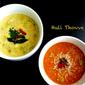 Huli Thove and Majjige Huli - Spiced Lentils and Vegetables in Yogurt Sauce