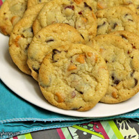 Chocolate & Butterscotch Chip Cookies with Bacon