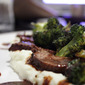 Red Wine Braised London Broil with Blue Cheese Mashed Potatoes and Broccoli