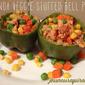 quinoa veggie stuffed bell peps