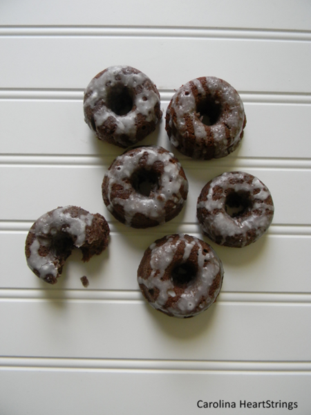 Mini Chocolate Glazed Donut Recipe By Carolinaheartstrings