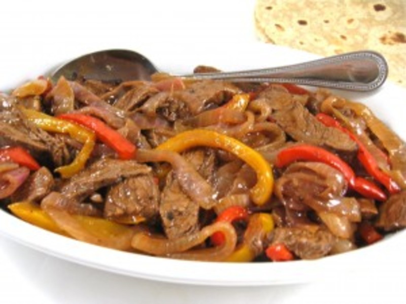 Skinny Steak Fajitas