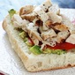 Chicken Sandwich in Ciabatta Bread