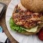 Salmon Burgers w/ Pickled Ginger & Coriander + Sriracho Mayo