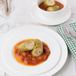 Arabic Stuffed Zucchini in Tomato Sauce / Kousa Mihshi Recipe