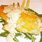 Fried Hake with Mustard Cream and Seared Vegetables
