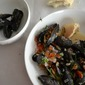 Mussels with White Wine, Shallots and Tomatoes