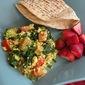 Spinach, Broccoli, and Tomato Scrambled Tofu