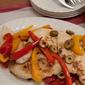 Chicken escalopes in a piquant pepper sauce