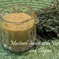 Creamy Mustard Sauce with Vermouth and Thyme